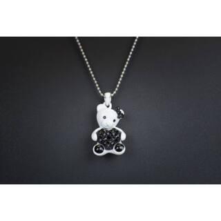 Nyaklánc macis fekete-fehér