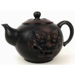 Tradicionális porcelán teázós szett - Sárkányos barna tea szett