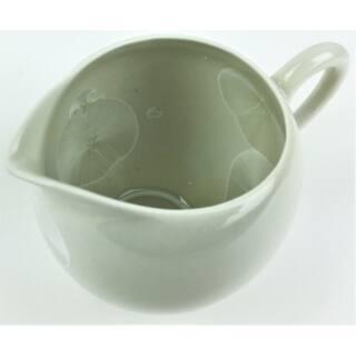 Tradicionális porcelán teázós szett - Fényes fehér alapon fehér levélmintás szett
