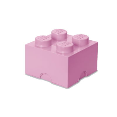 LEGO Storeage Brick 4 - Világos lila (40031738) tároló blokk