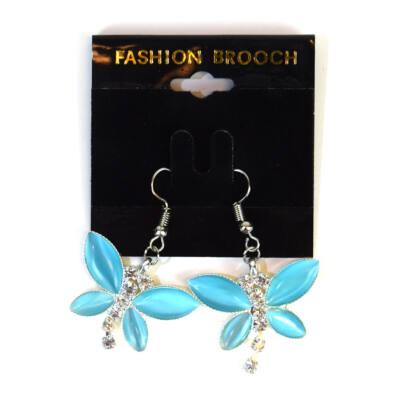 Fülbevaló pillangós kék