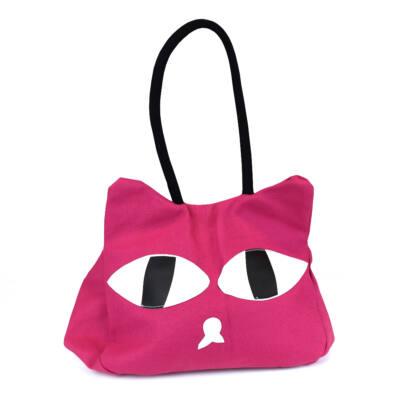 Válltáska cicás pink