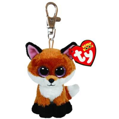 Beanie Babies plüss kulcstartó - róka 8,5 cm